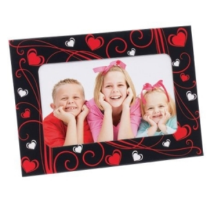 Magnetic Frame Black with Hearts MG-008.jpg